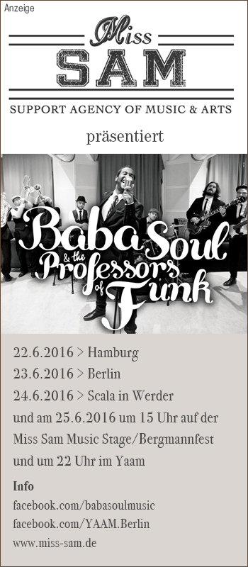 Miss Sam präsentiert: Baba Soul and the Professors of Funk